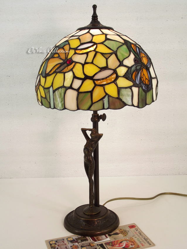 Lampada Tiffany originale Disegno Liberty TDV184F - DaVinci Collection - Comp...