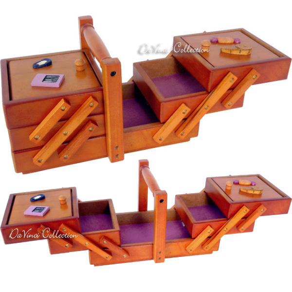 Scatola cucito d coupage sc03le davinci collection - Scatola porta rocchetti ...