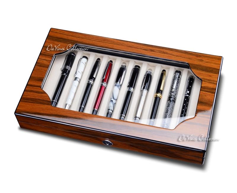Portapenne da scrivania cofanetto in legno pb03pfe - Portapenne da scrivania ...
